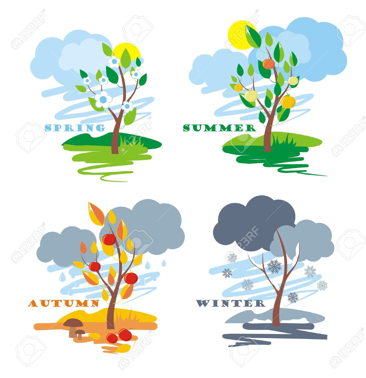 abstract of four seasons, vector Stock Vector - 10084014