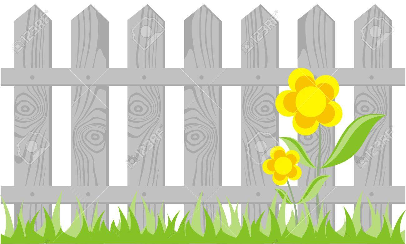 Perfect Picket Fence Vector On White Background Throughout Inspiration