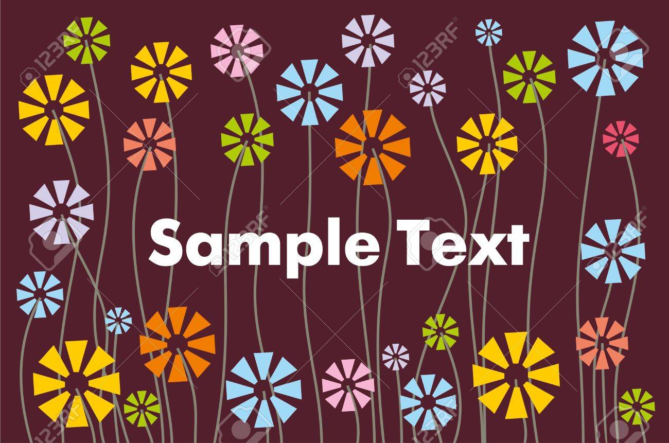abstract floral pattern for text Stock Vector - 12379266