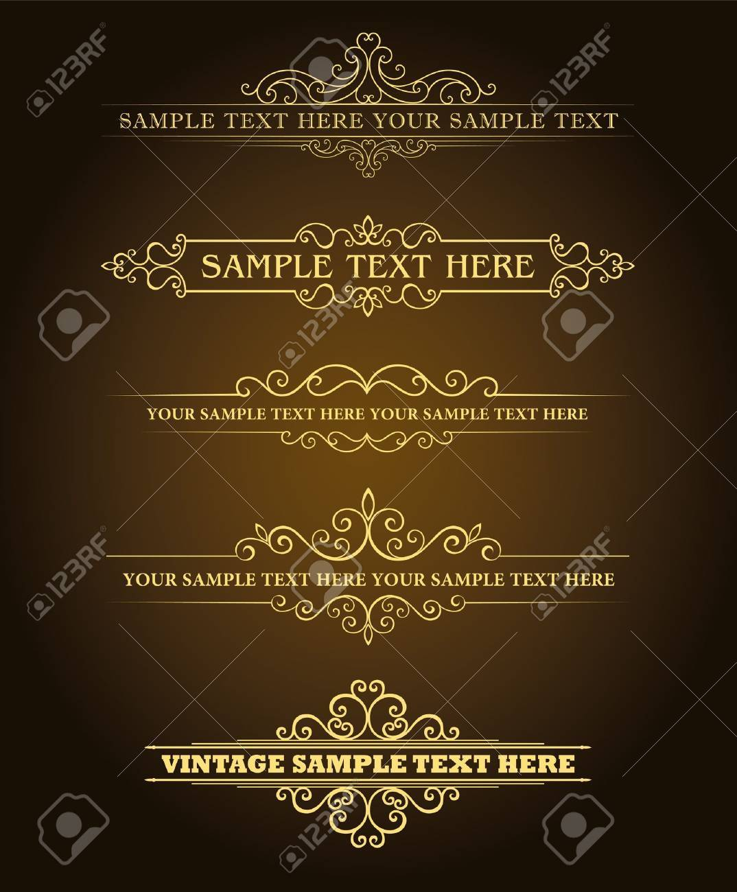 Calligraphic old elements vintage decor, vector Stock Vector - 12379291