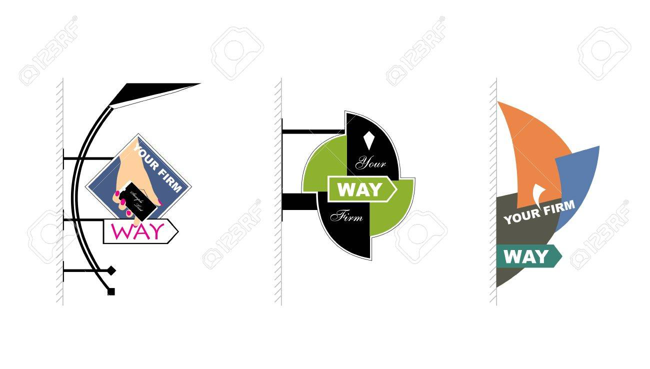 modern signs for advertising Stock Vector - 13286629