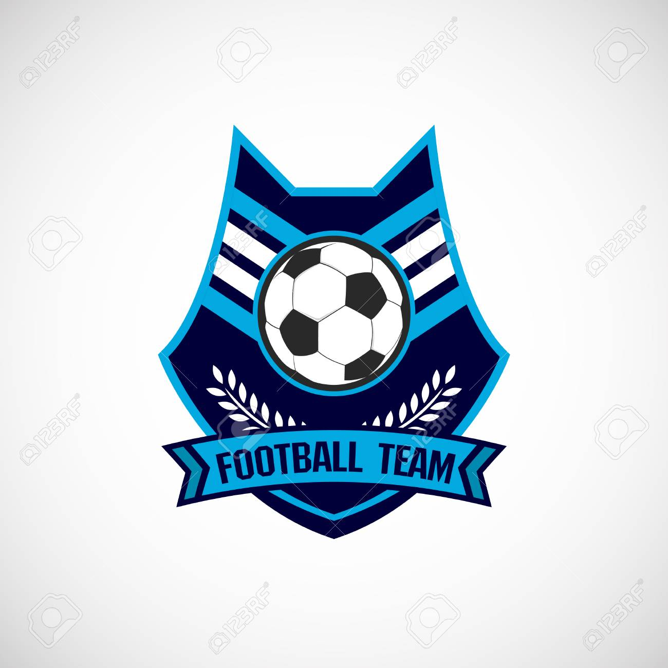Soccer Football Badge Logo Design Templates Sport Team Identity Royalty Free Cliparts Vectors And Stock Illustration Image 120477377