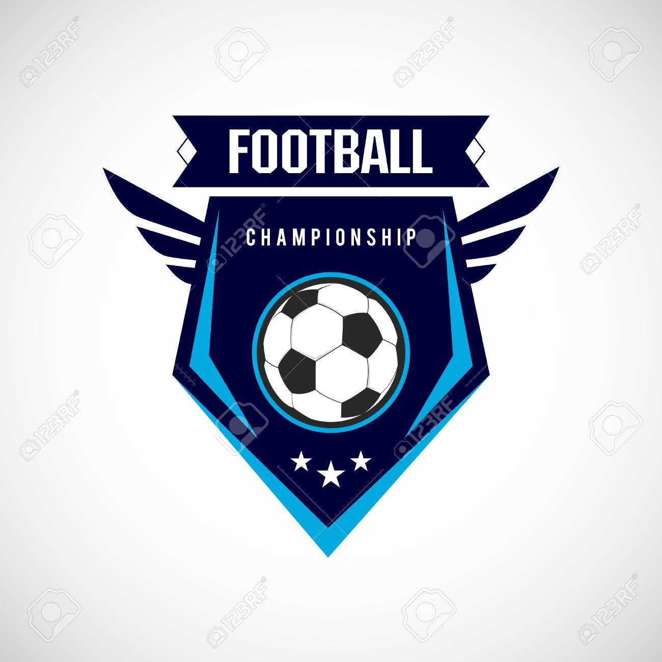 Soccer Football Badge Logo Design Templates Sport Team Identity Royalty Free Cliparts Vectors And Stock Illustration Image 120477399