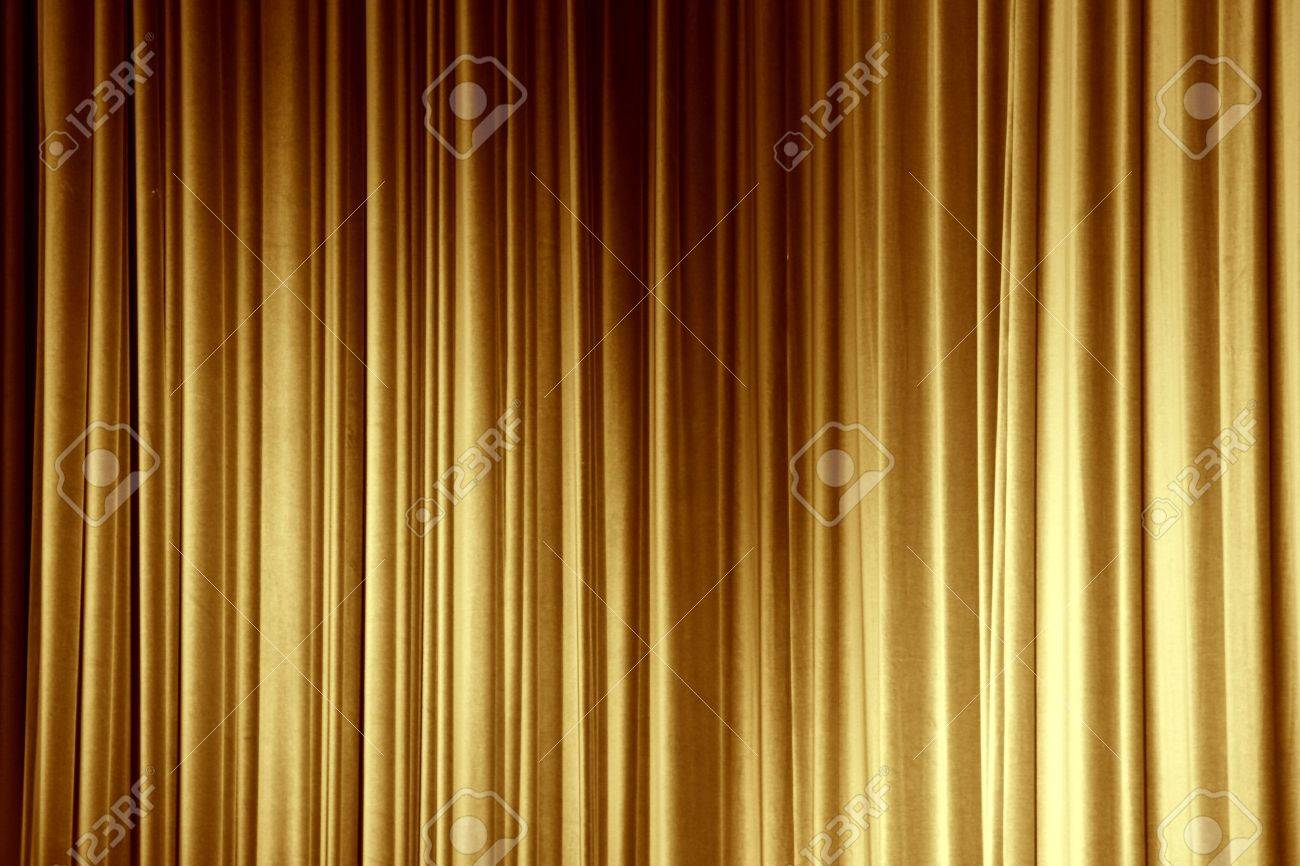 Curtains texture gold - Gold Curtain Stock Photo 12465423