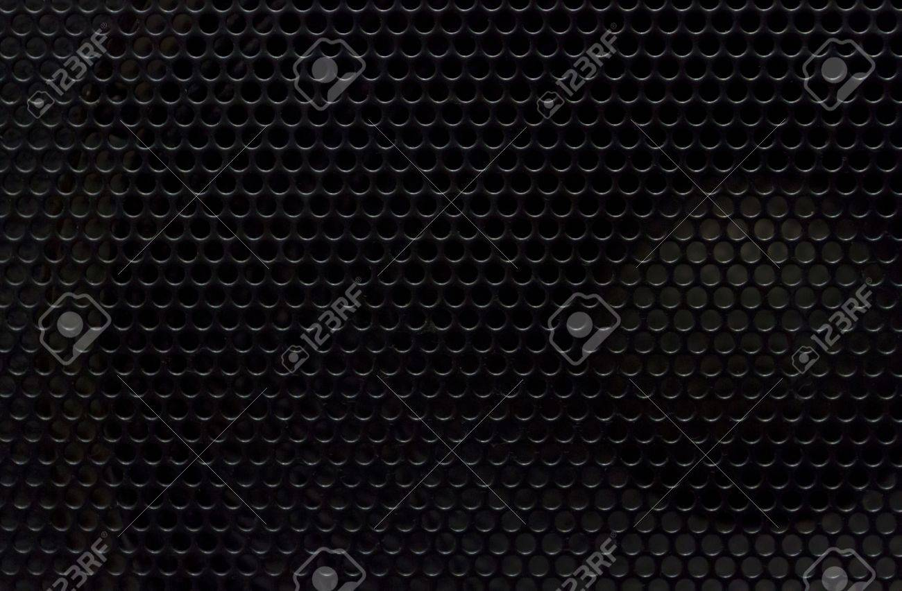 Black aodio metal plate background Stock Photo - 13235027