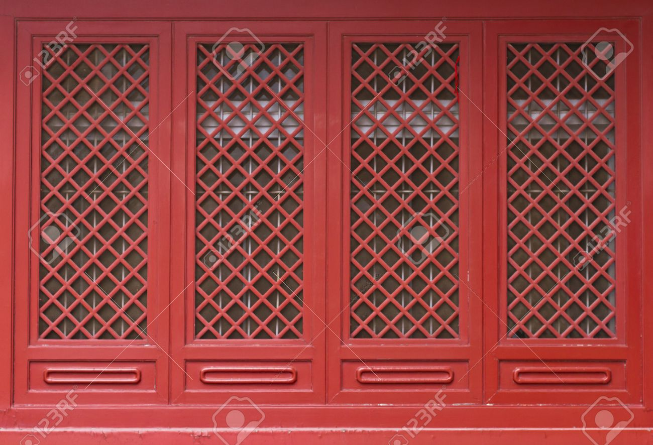 Chinese traditional red door pattern style Stock Photo - 13925476 & Chinese Traditional Red Door Pattern Style Stock Photo Picture And ...