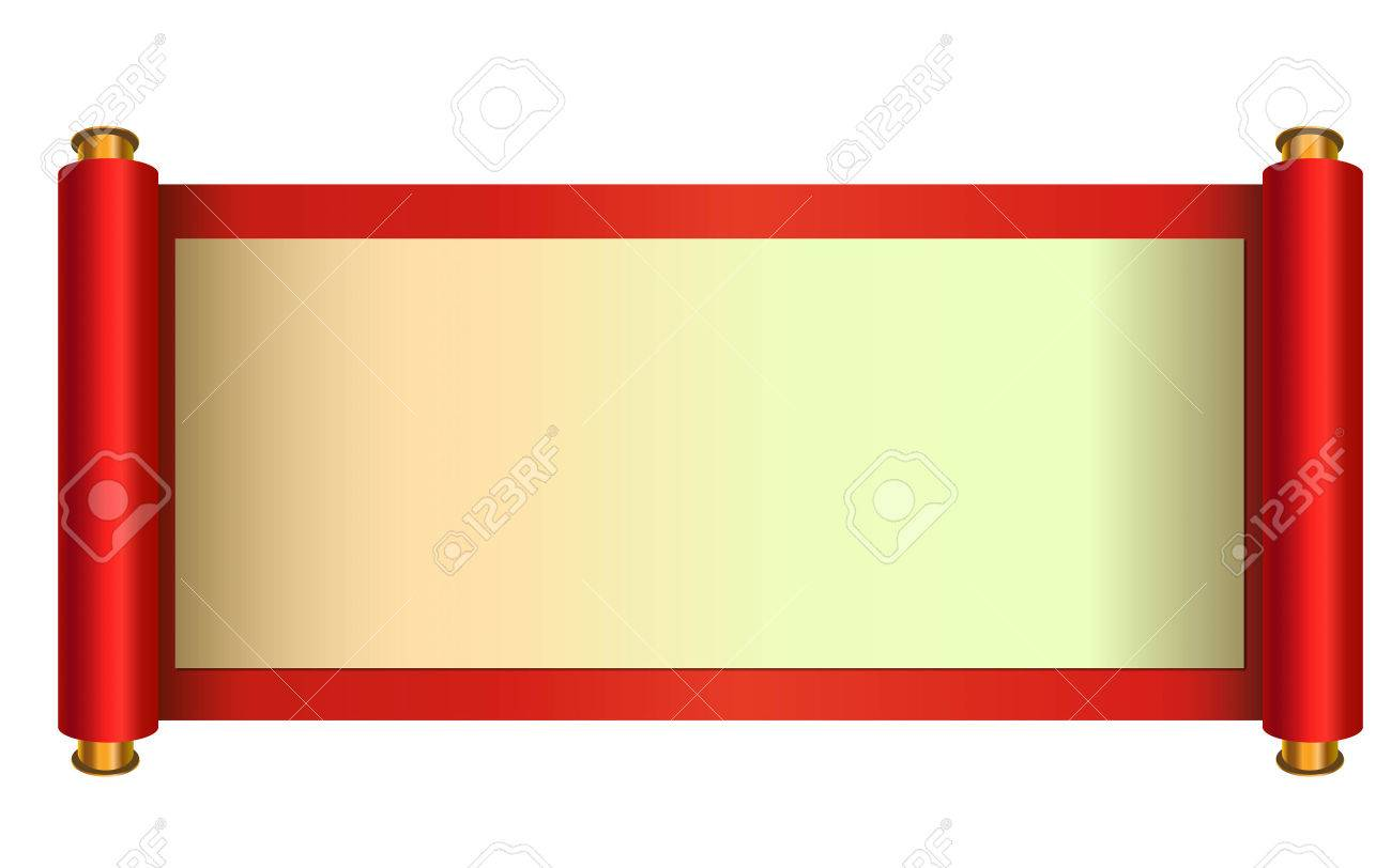 Chinese style scroll vector illustration - 51286661