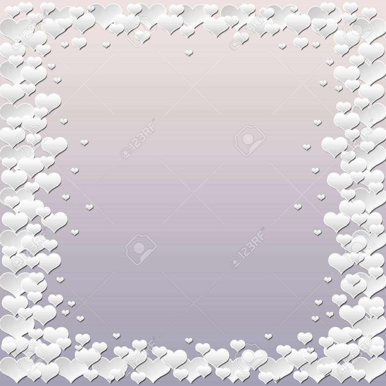 White hearts clouds background for weddings or valentine - 36305641