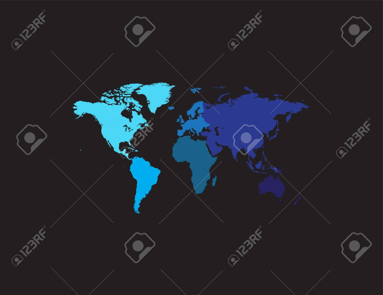 World map continents blue flat design royalty free cliparts vectors vector world map continents blue flat design gumiabroncs Choice Image