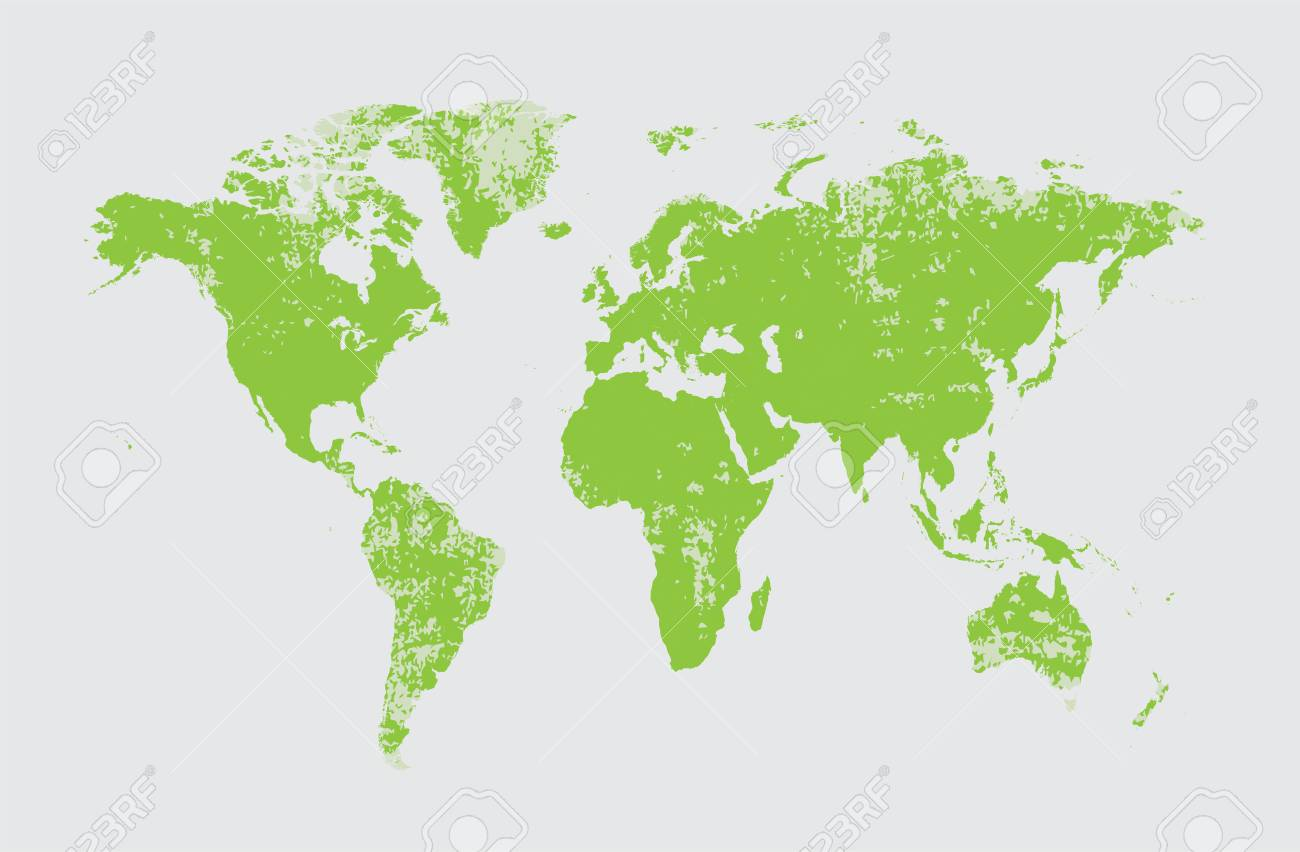 Grunge world map vector green royalty free cliparts vectors and grunge world map vector green stock vector 63154645 sciox Images