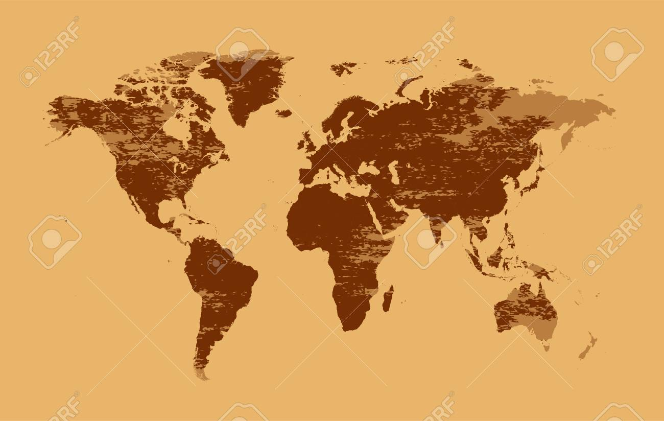 World Map Old Style.World Map Grunge Vector Old Style Royalty Free Cliparts Vectors
