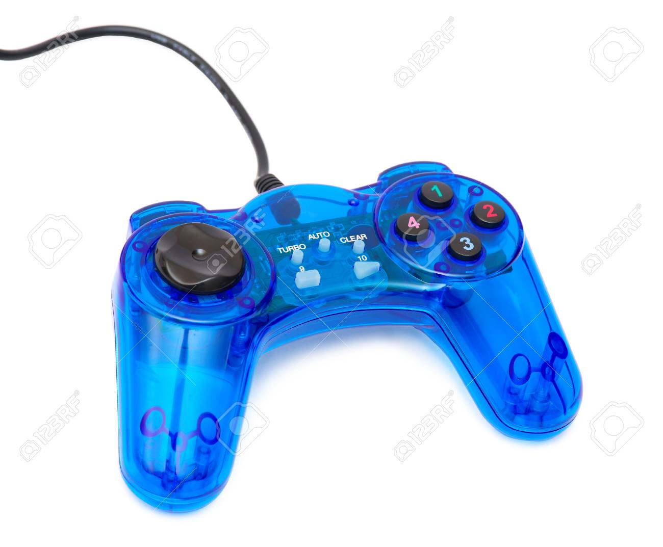 The blue glass game controler on a white background Stock Photo - 8785948