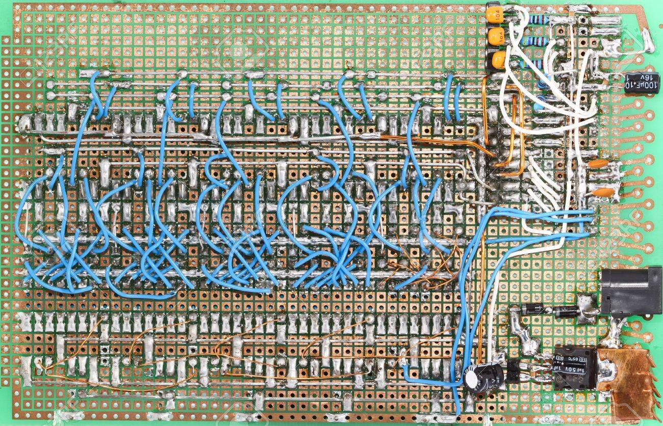 Home Made Circuit Board Lots Of Wires And Connections Stock Photo Wiring 11762245