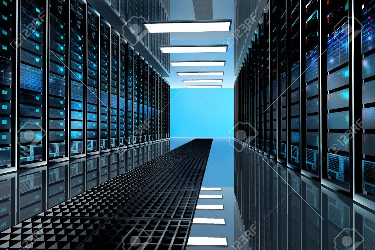 modern network and telecommunication technology computer concept