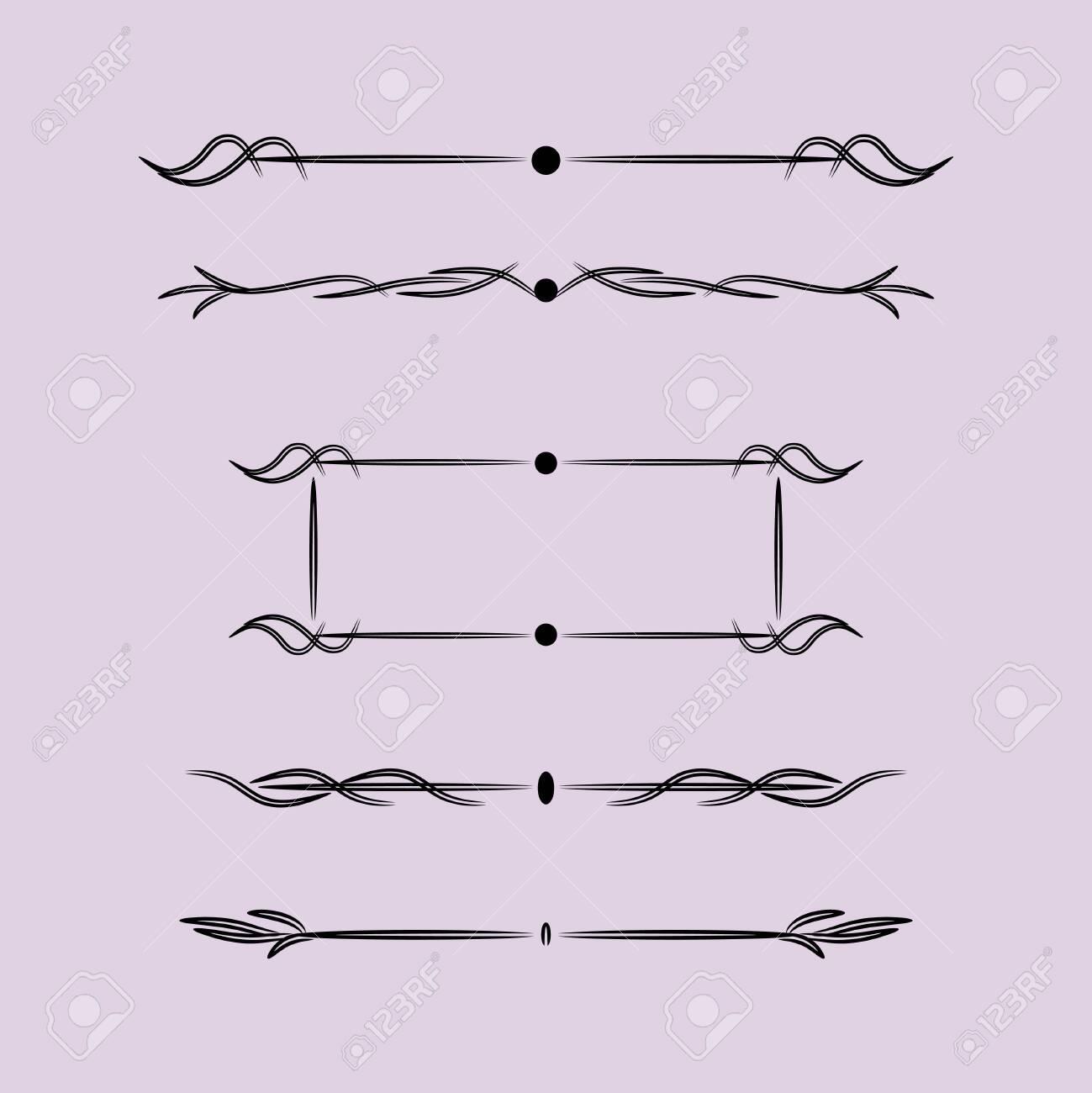 Vintage Design Elements With Lines, Vintage Design Elements With Lines - 142355604