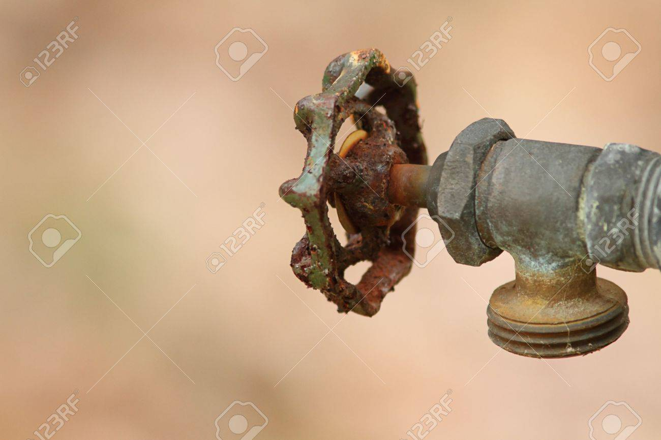 No Water Left In A Rusty Dried Up Faucet Stock Photo, Picture And ...