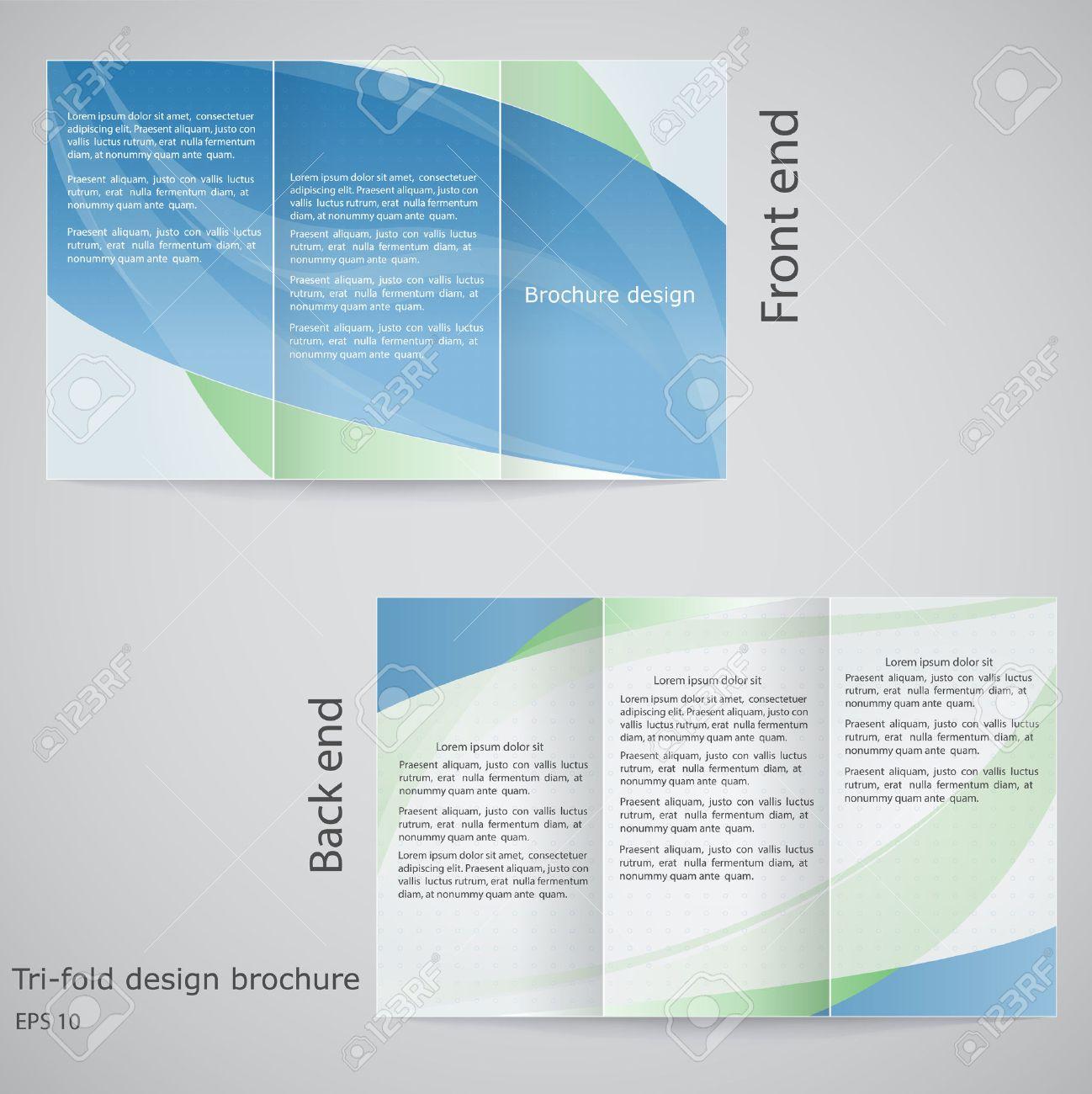 Tri-fold Brochure Design. Brochure Template Design In Shades ...