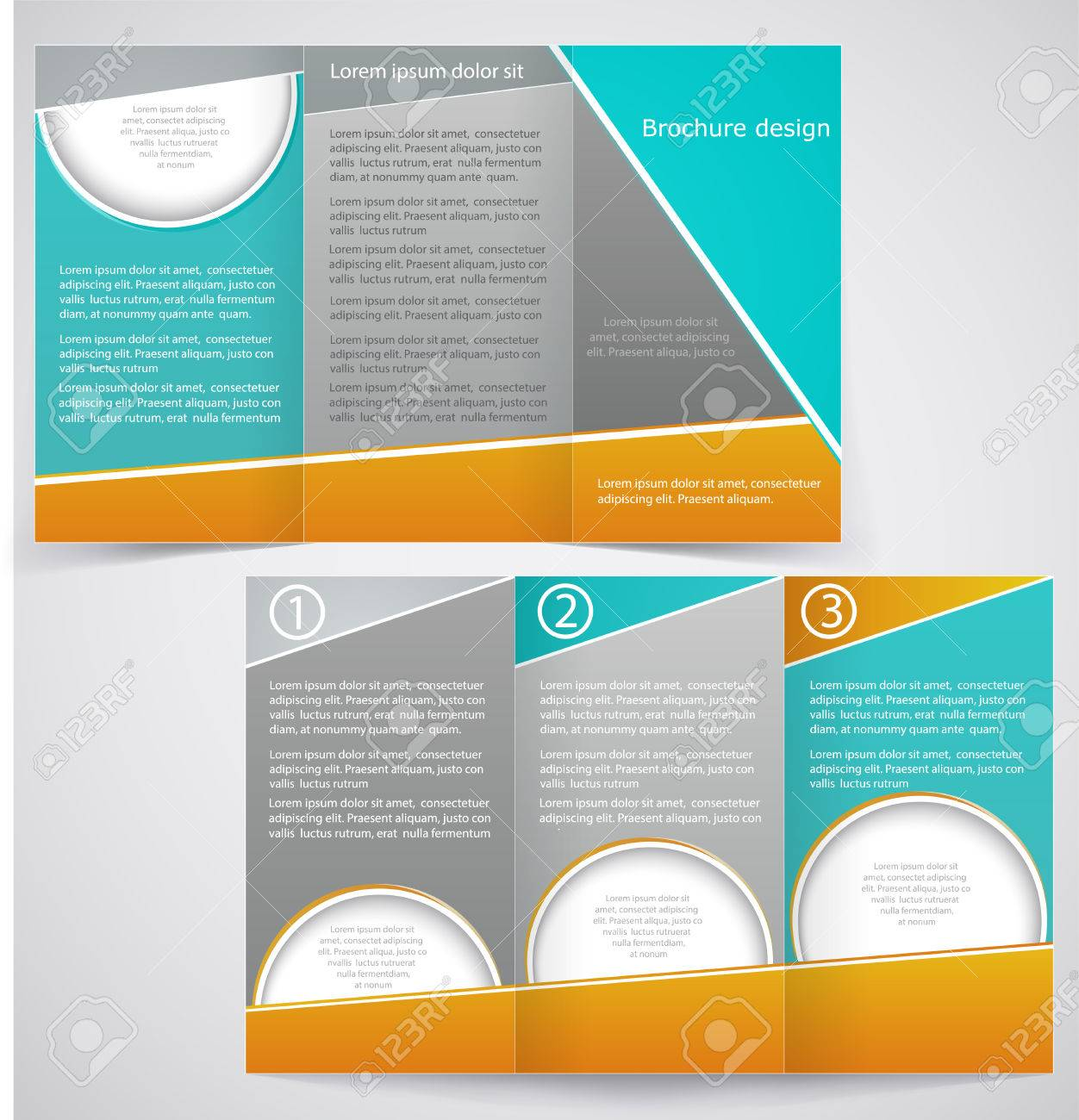 three fold brochure template