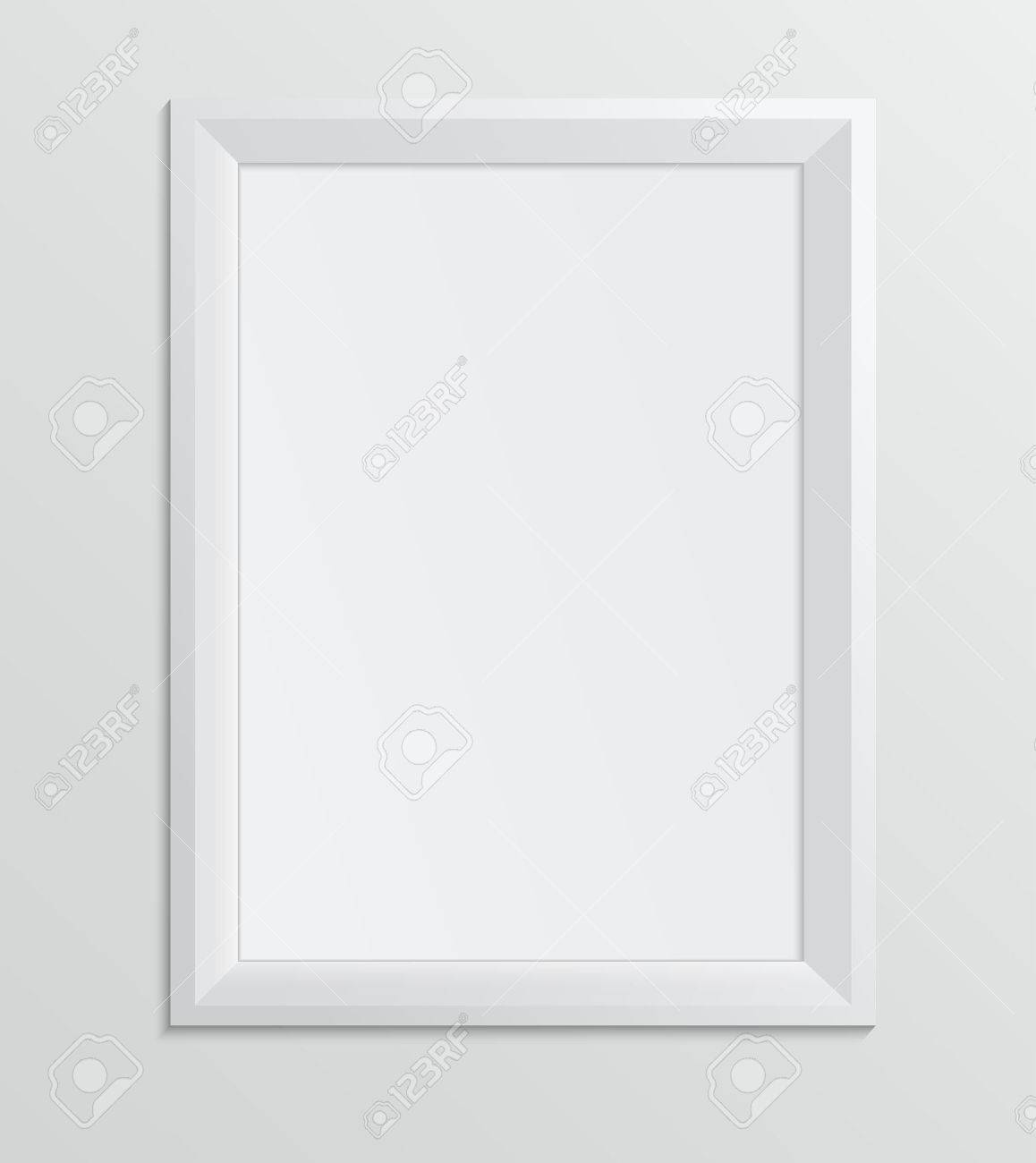 Empty white frame on a white background design a4 size royalty empty white frame on a white background design a4 size stock vector 27875918 jeuxipadfo Choice Image