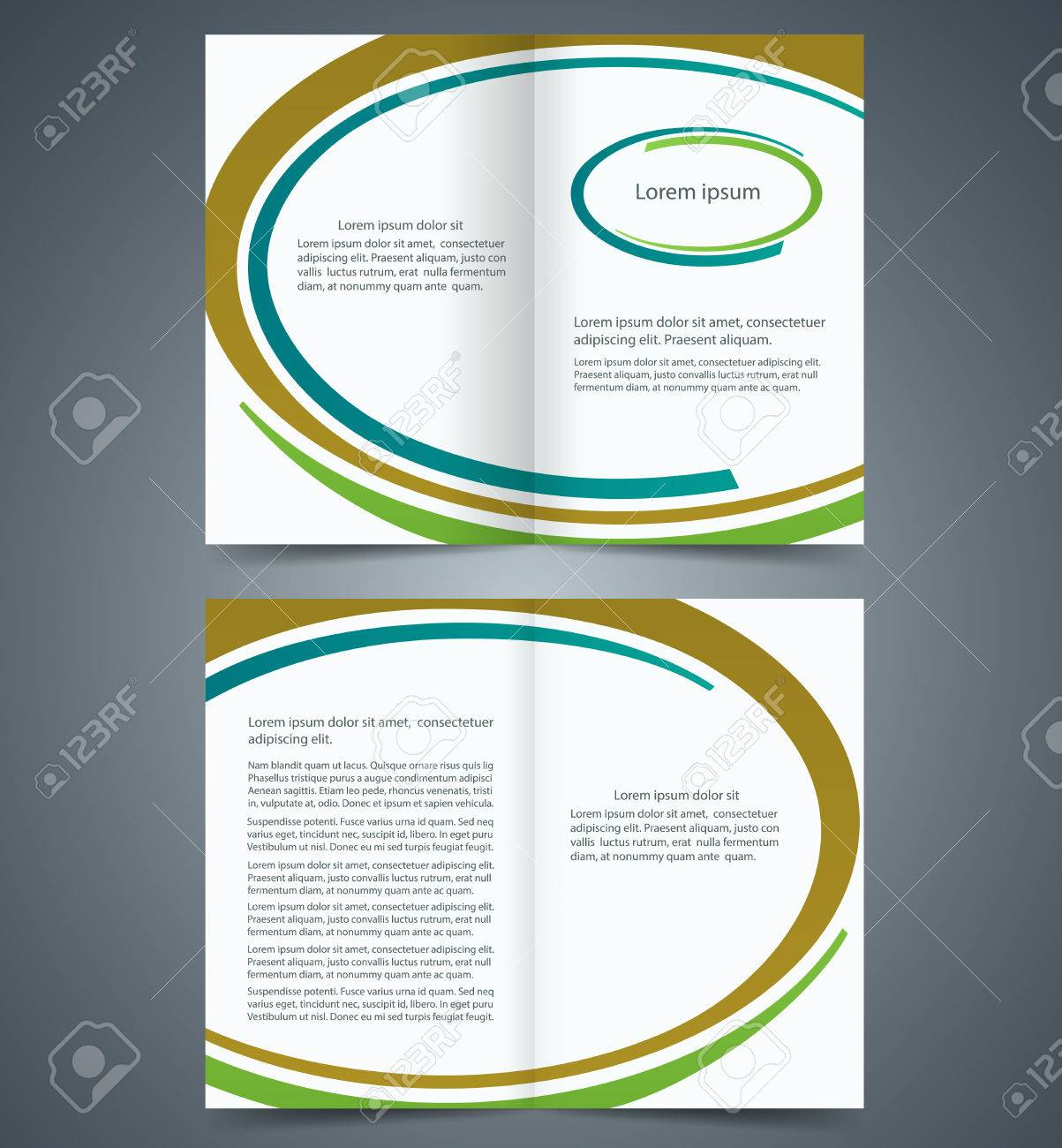 booklet template design brown blue and green elements booklet template design brown blue and green elements layout business brochure flyer