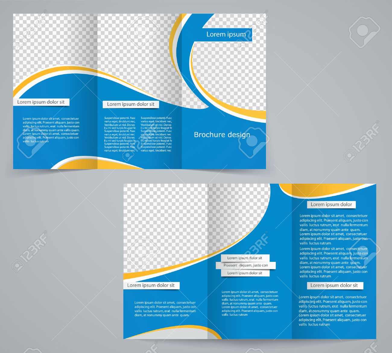 Three Fold Business Brochure Template Corporate Flyer Or Cover - Free business brochure templates