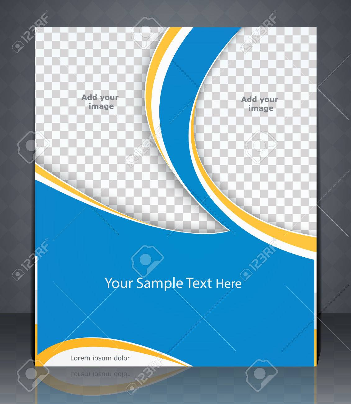 layout flyer magazine cover or corporate design template layout flyer magazine cover or corporate design template advertisment blue color stock