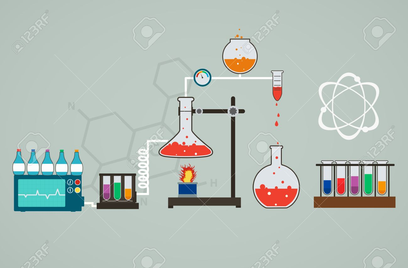 Chemistry Infographic, Template Of Medical Research Royalty Free ...