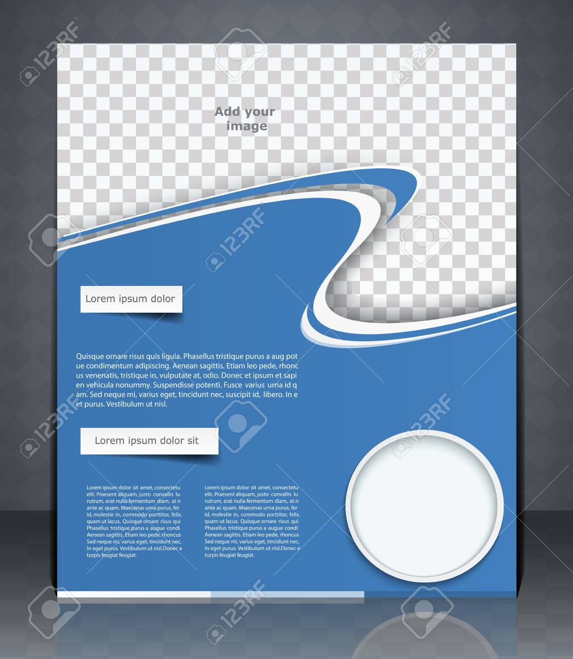 layout flyer magazine cover or corporate design template vector layout flyer magazine cover or corporate design template advertisement in blue color