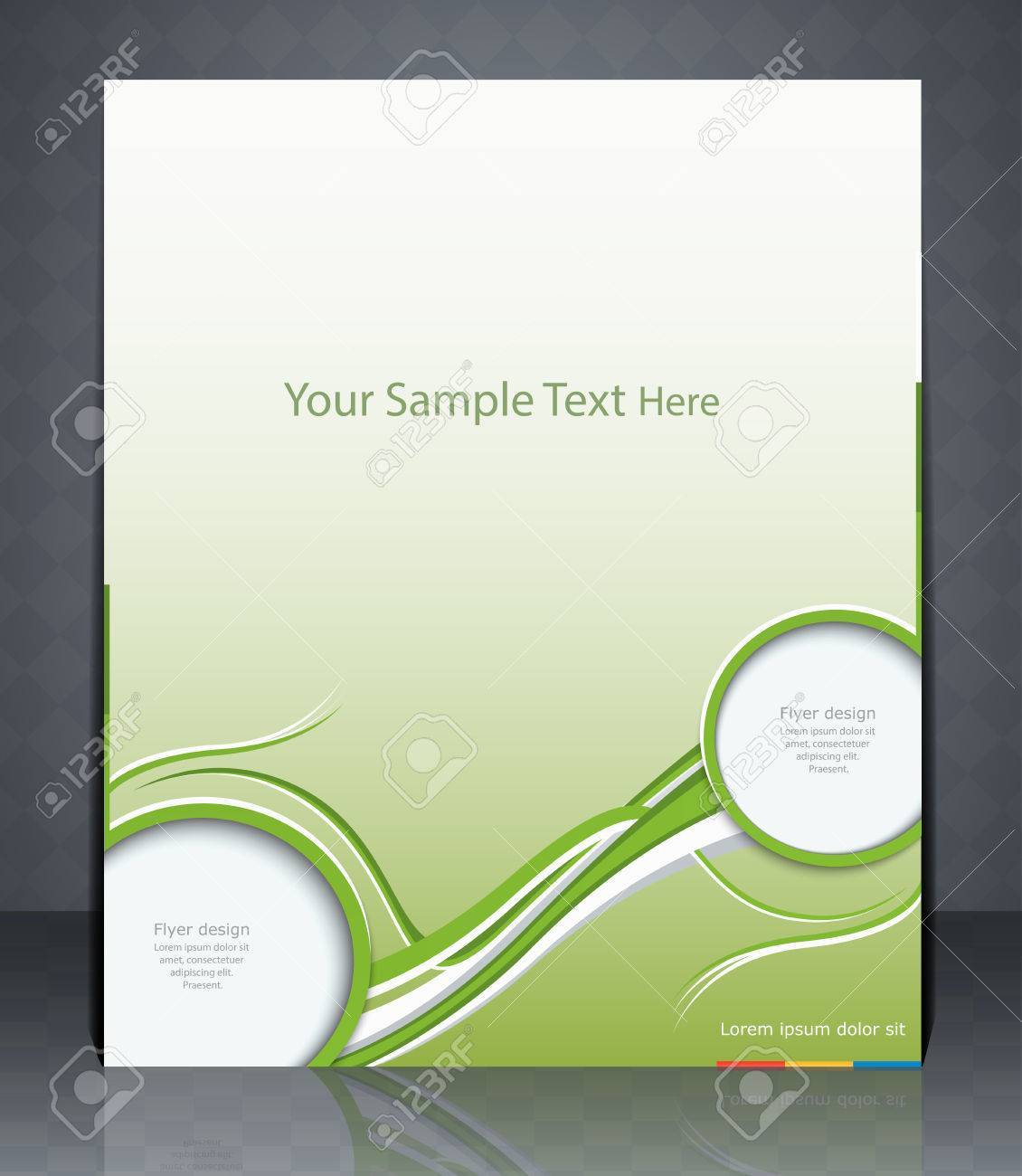 layout flyer magazine cover or corporate design template vector layout flyer magazine cover or corporate design template advertisement in green color