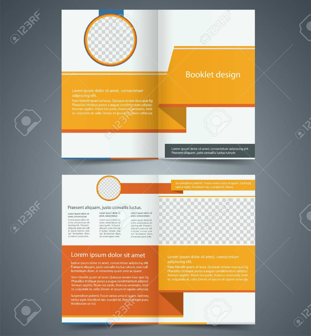 yellow bifold brochure template design business leaflet booklet