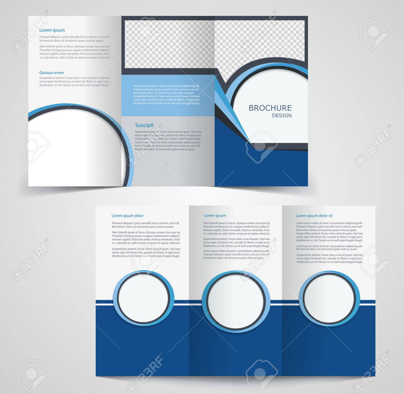 Tri-fold Business Brochure Template, Two-sided Template Design ...
