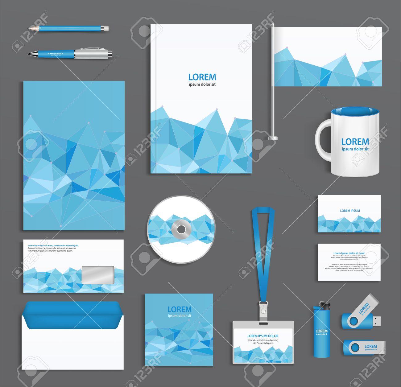 Plantilla Azul Identificación Corporativa Con Estilo Abstracto ...