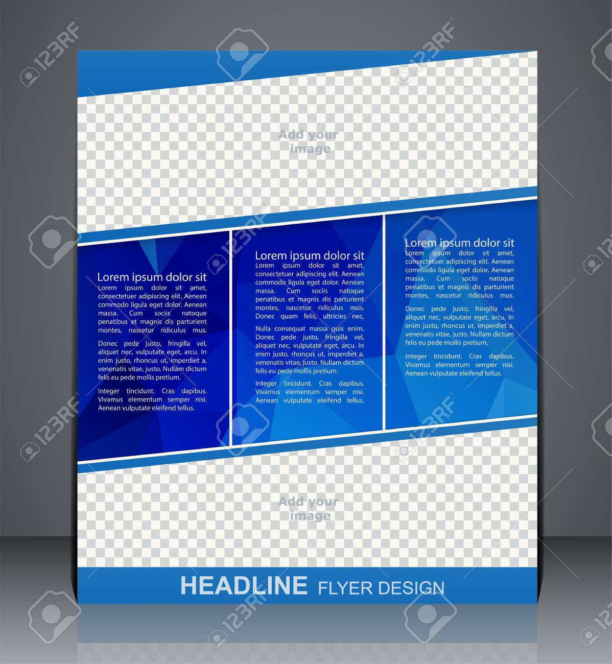 brochure flyer polygon design in a4 size layout cover design