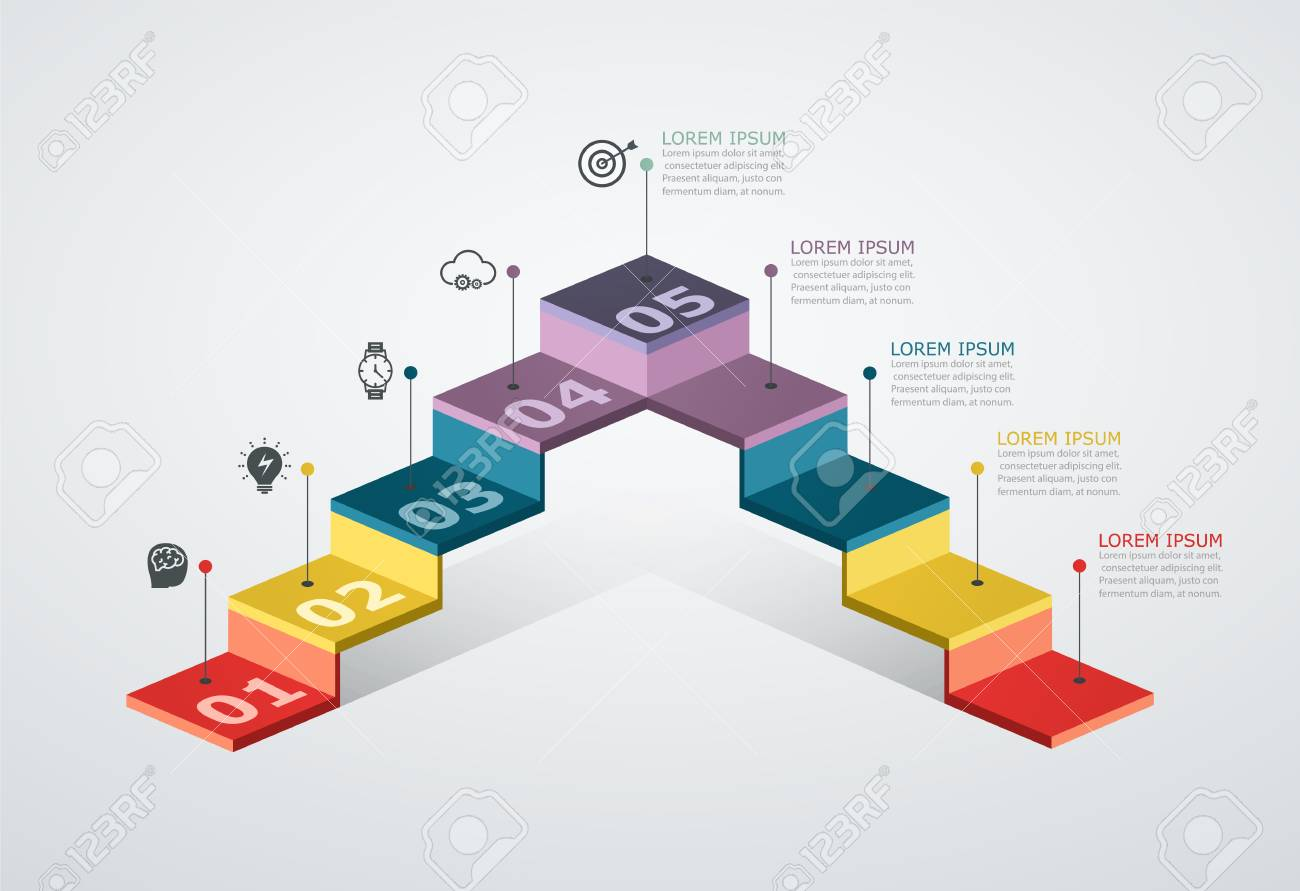 Infographic Design Template With Step Structure. Business Concept.. Royalty  Free Cliparts, Vectors, And Stock Illustration. Image 109879330.123RF.com
