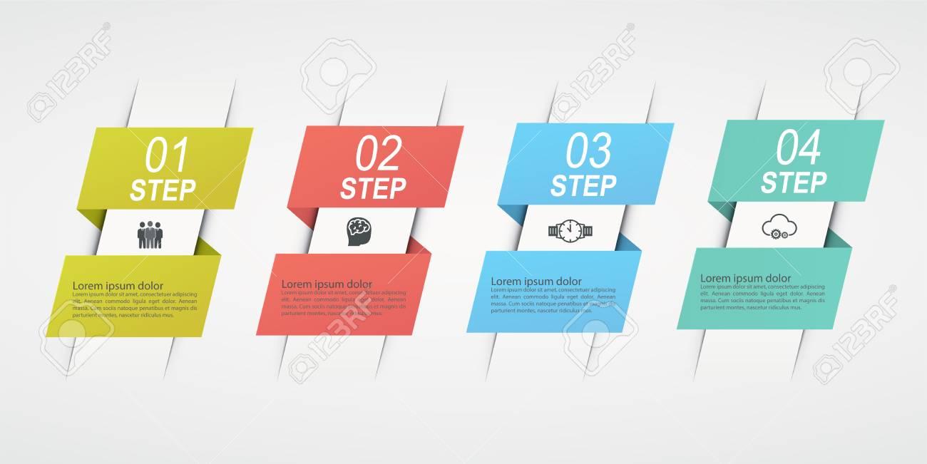 Fantastic Design Infographics With 4 Steps Business Concept Block Diagram Wiring Database Denligelartorg