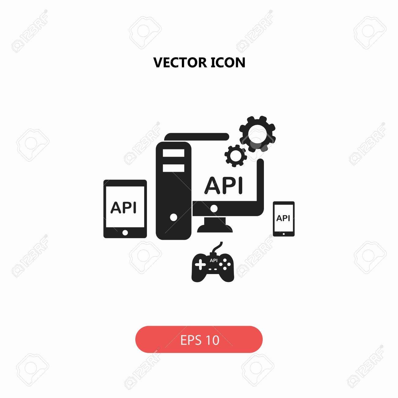 api application programming interface vector icon royalty free