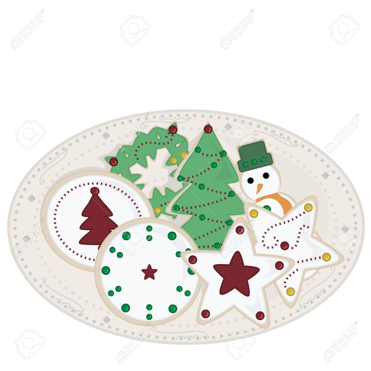 Holiday Sugar Cookies on Plate - 2753022