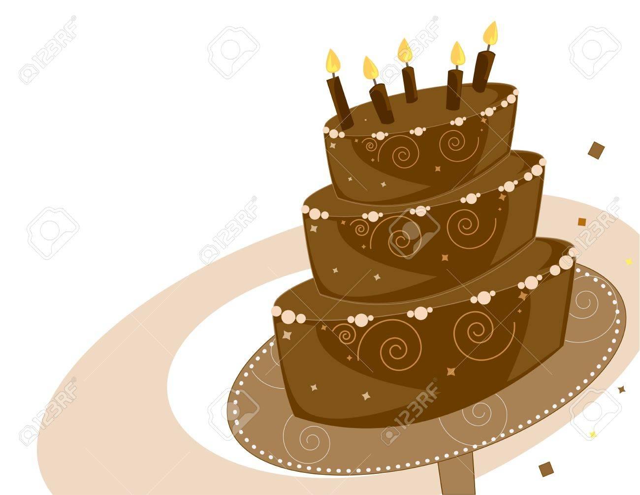 Chocolate layer birthday cake - 3891737