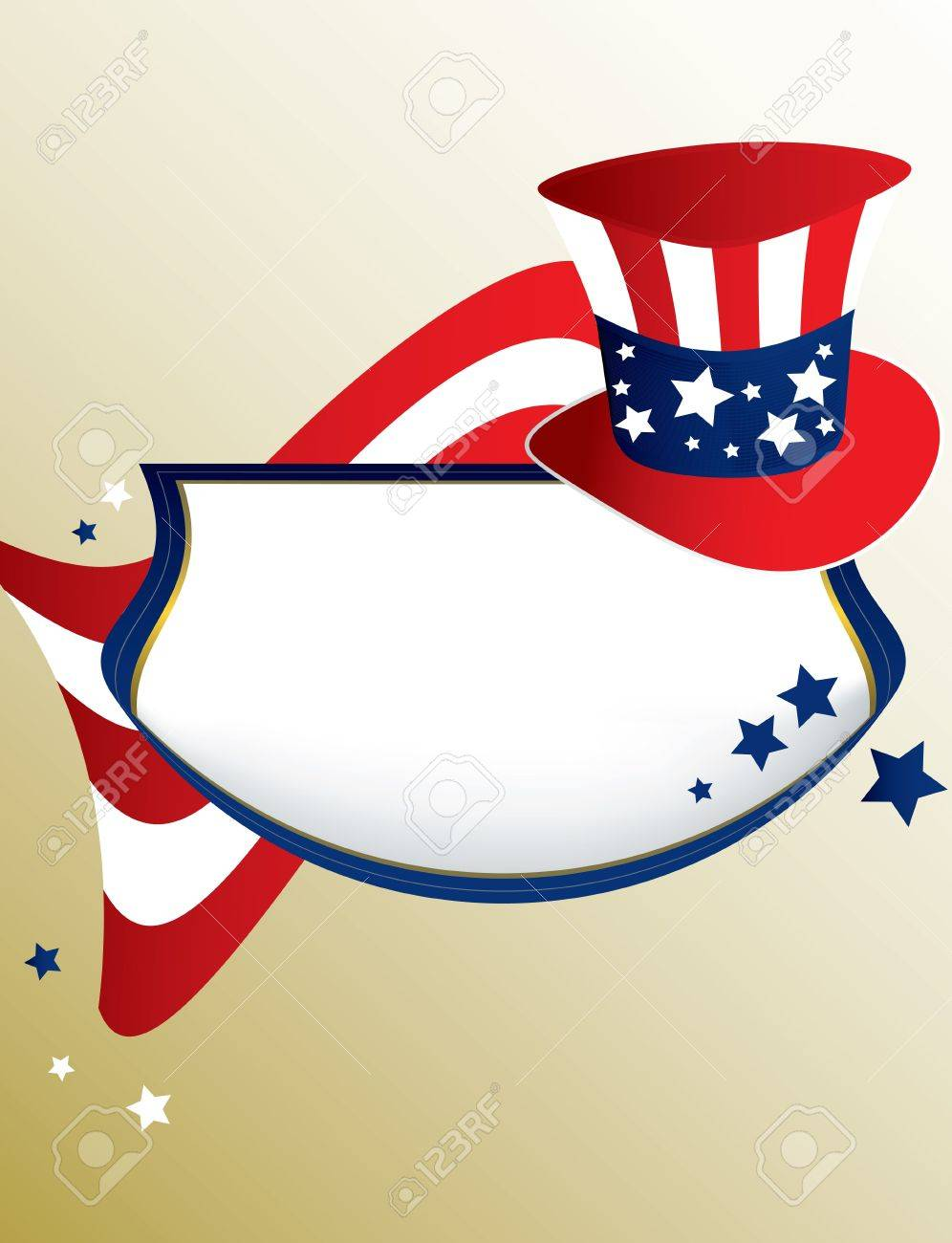 American patriotic banner on a tan background Stock Photo - 4119264