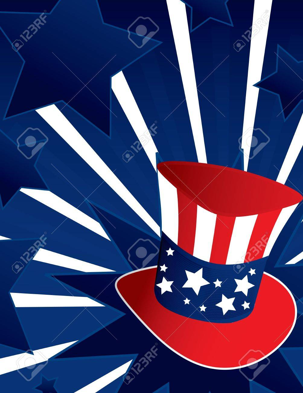 Uncle Sam hat with active blue background - 4119268