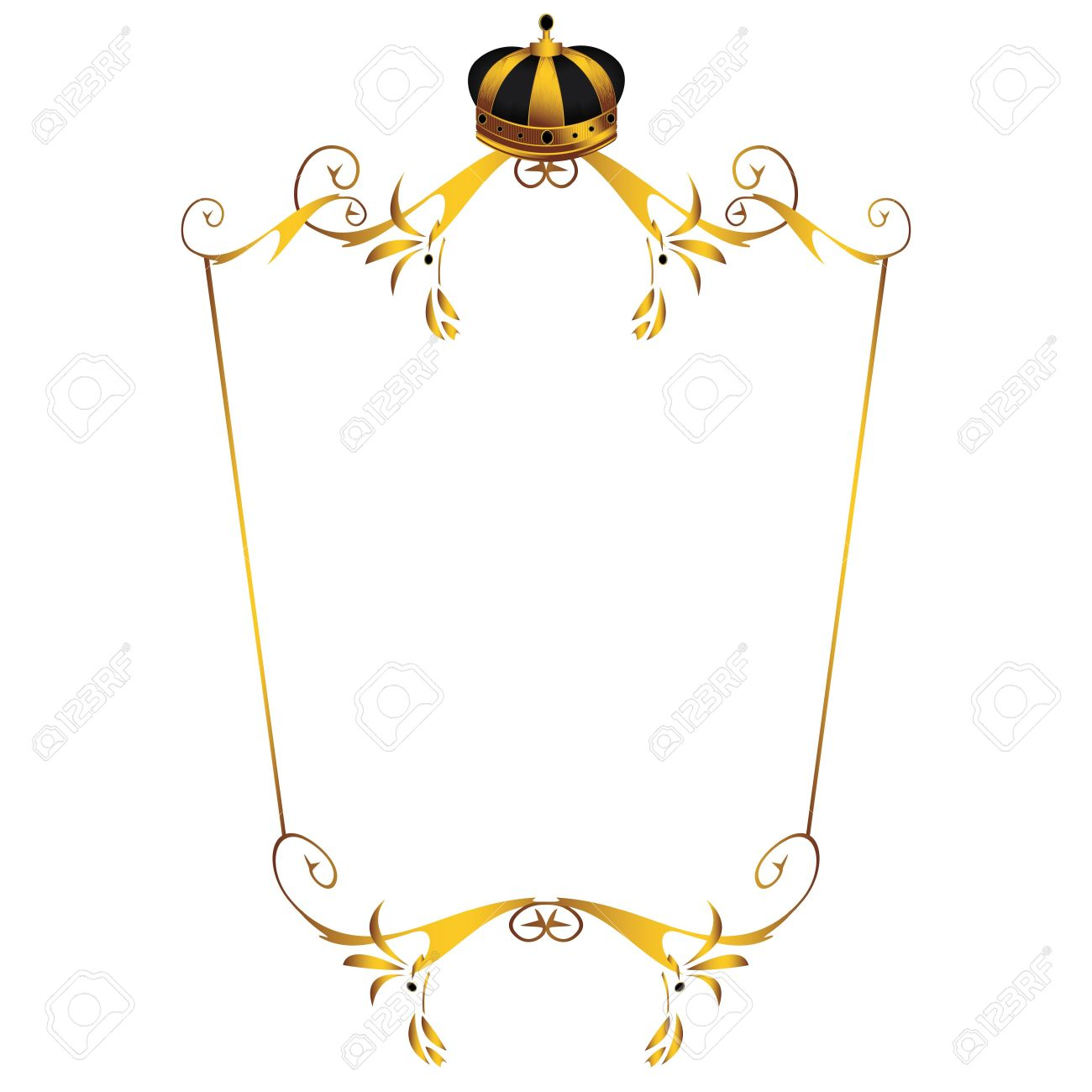 gold crown on frame isolated on a white background stock photo 4829728