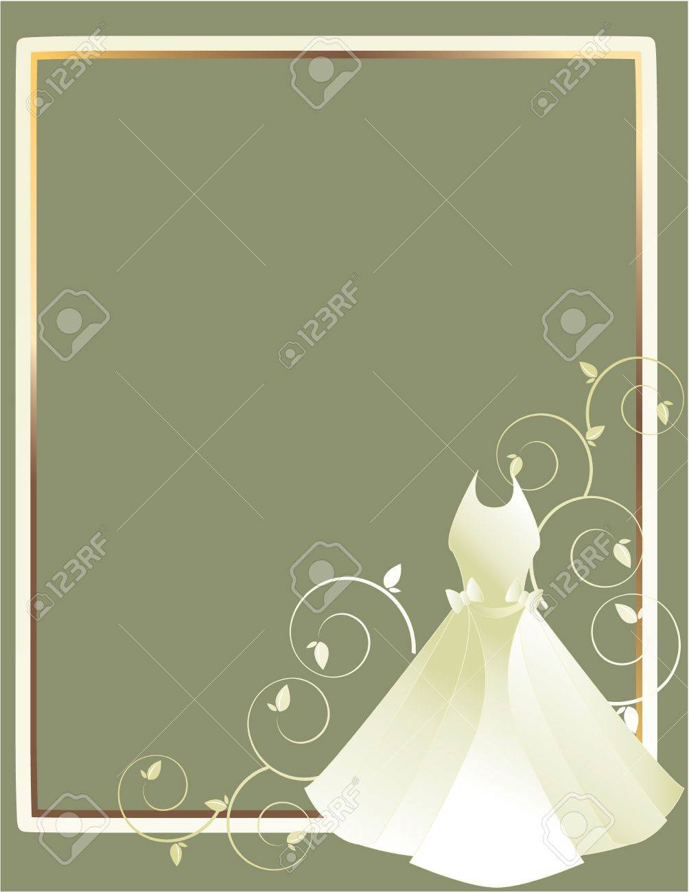 A dress white and gold background