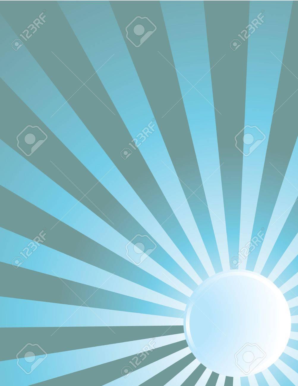 Blue moon beam ray background - 5253612