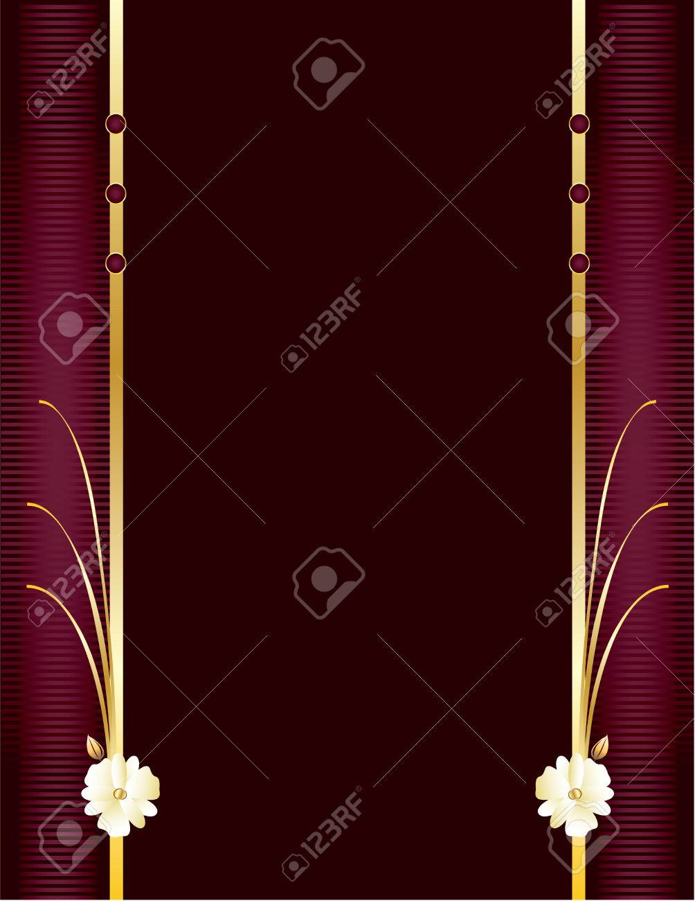 Purple background with copyspace and gold details Stock Vector - 6296686