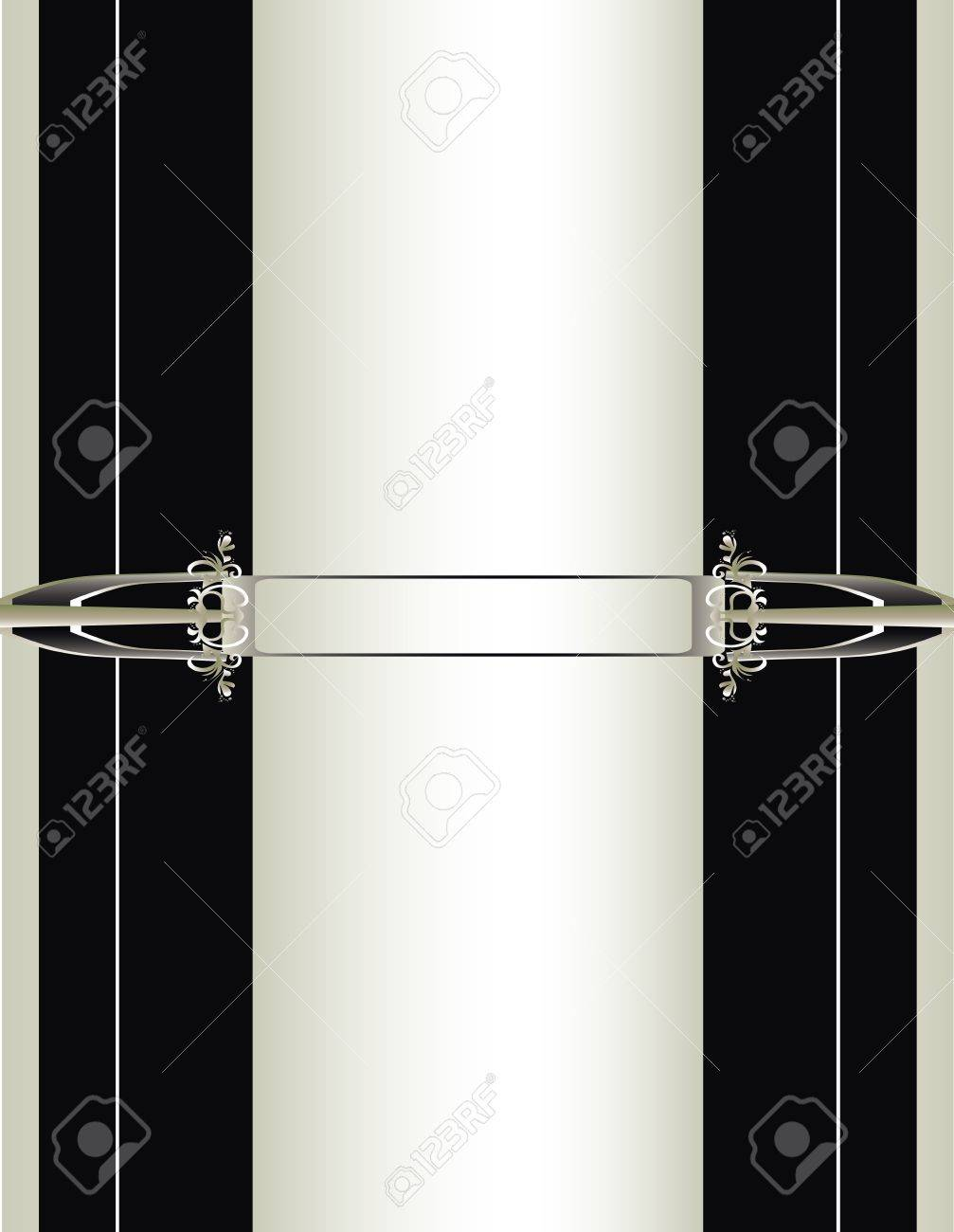Off white, black, and silver background Stock Vector - 7315139