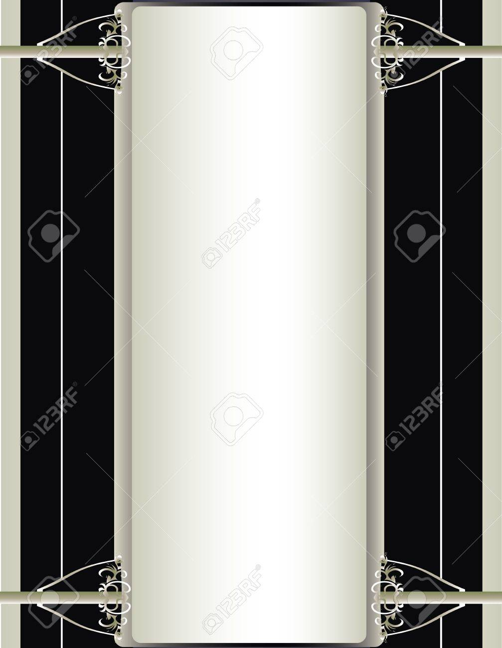 Off white, black, and silver background Stock Vector - 7315151