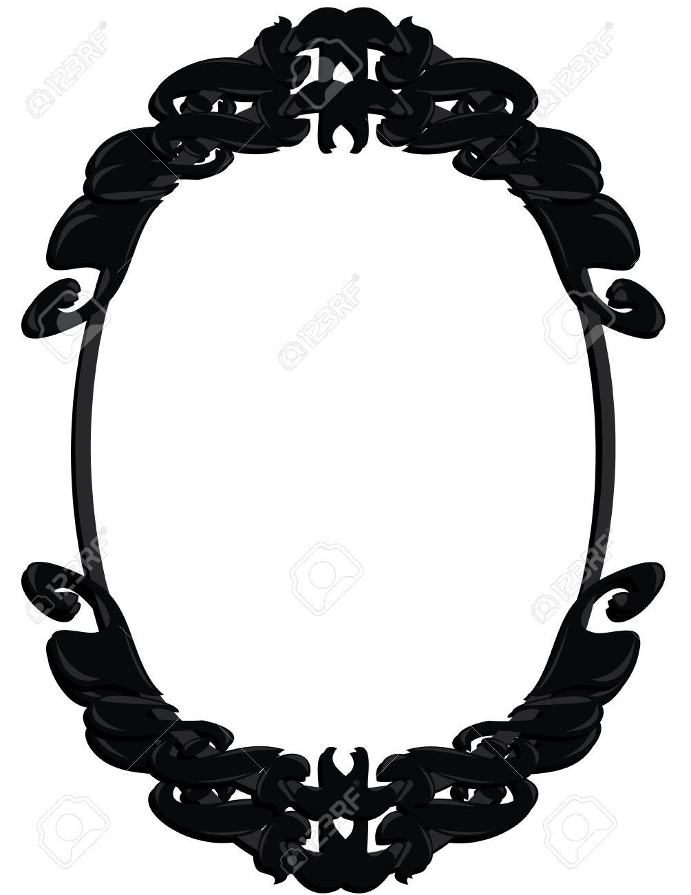 Black, gray, and white frame design element Stock Vector - 7315104