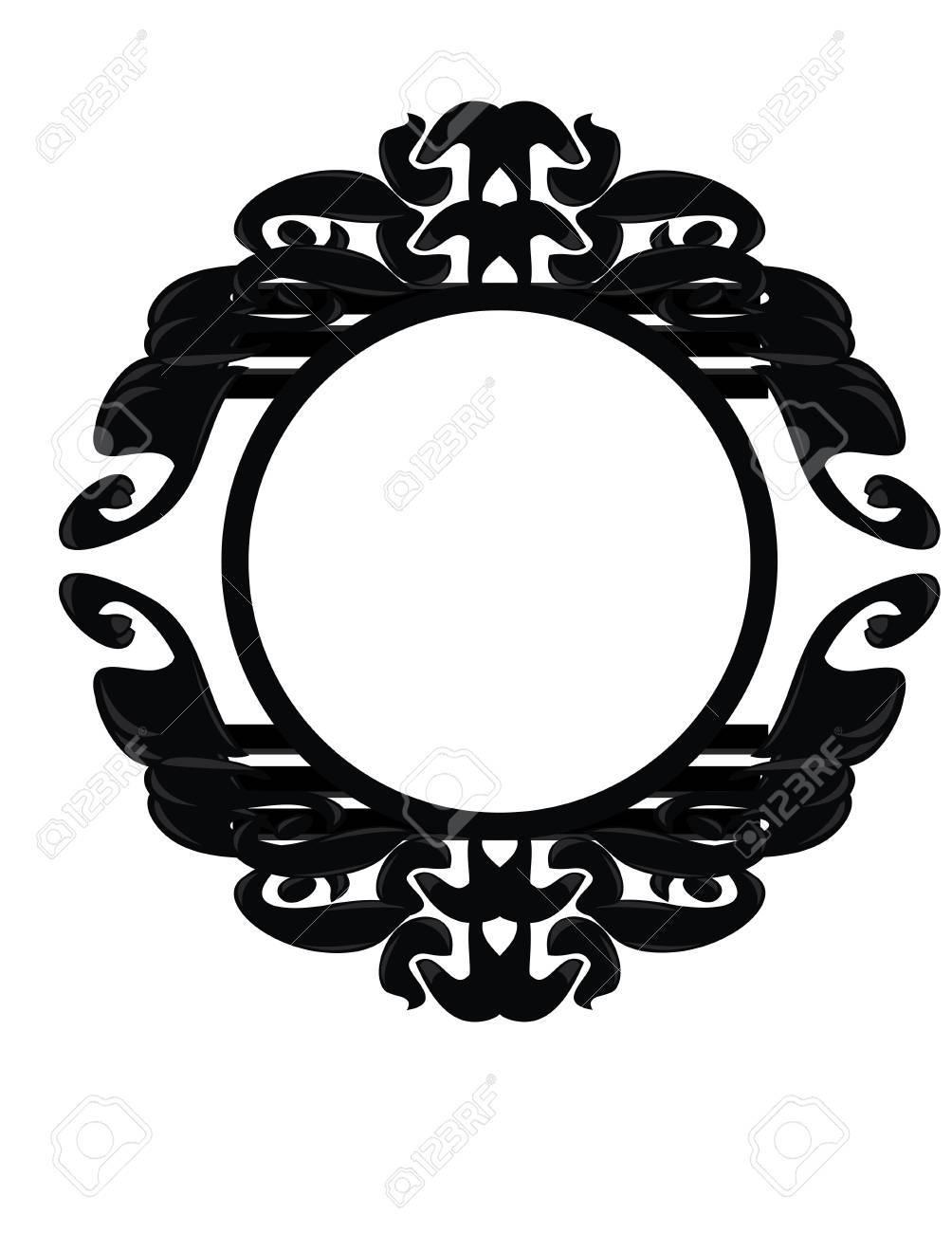 Black, gray, and white frame design element Stock Vector - 7315102