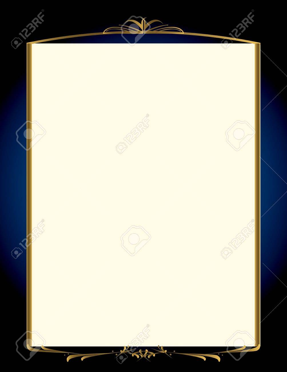 A blue background with and elegant blank frame design Stock Vector - 7315127
