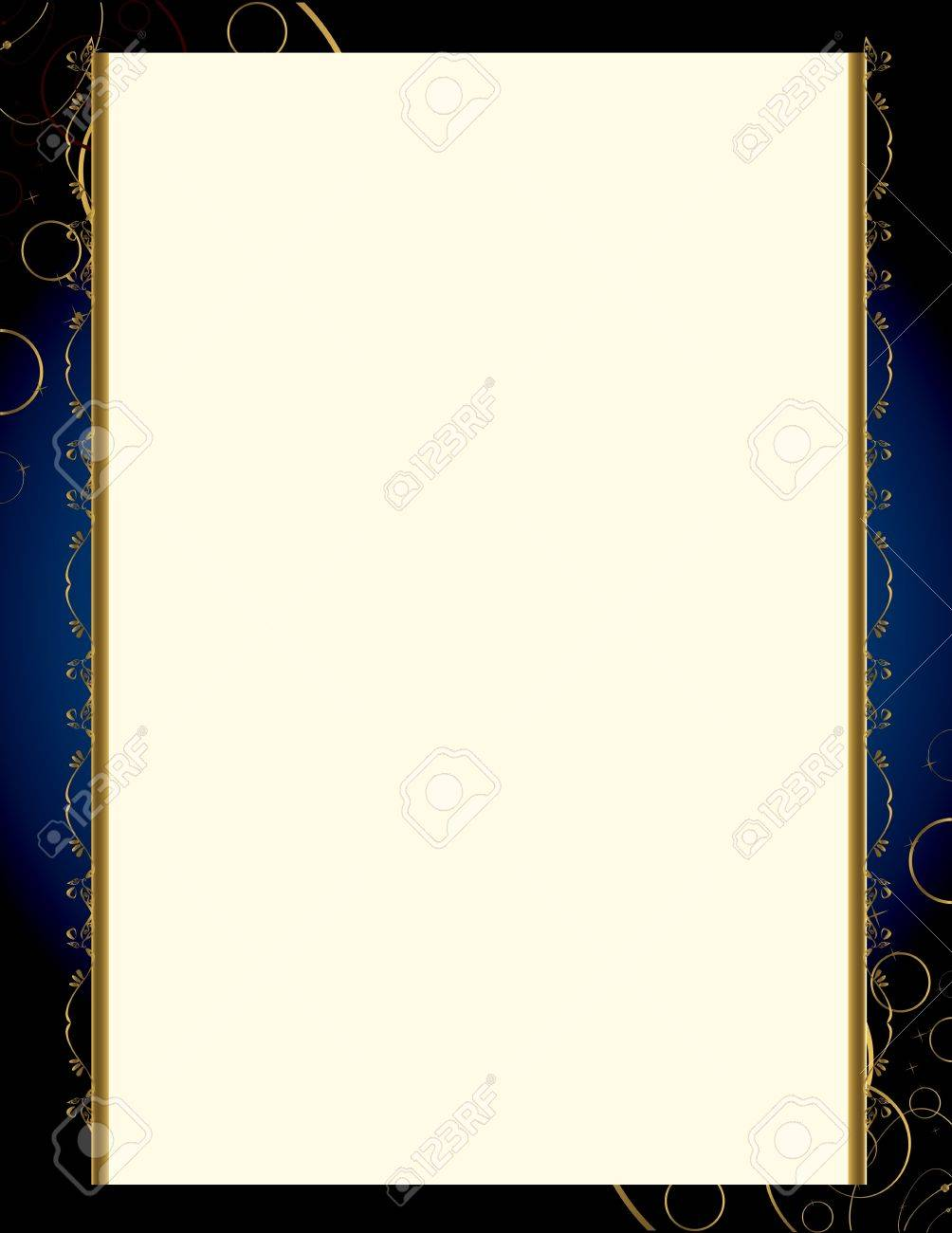 A blue background with and elegant blank frame design Stock Vector - 7315157